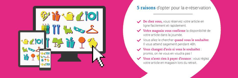 Réservation gratuite en magasin La Foir'Fouille