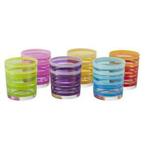 Lot de 6 gobelets Linda - 22 cl - différents coloris