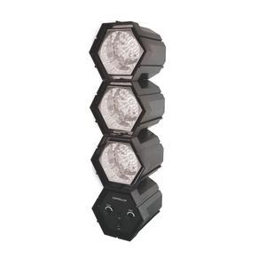 Lampe Disco 3 spots - L 13.7 x H 48.5 x l 12.7 cm - Noir - PARTY TIME