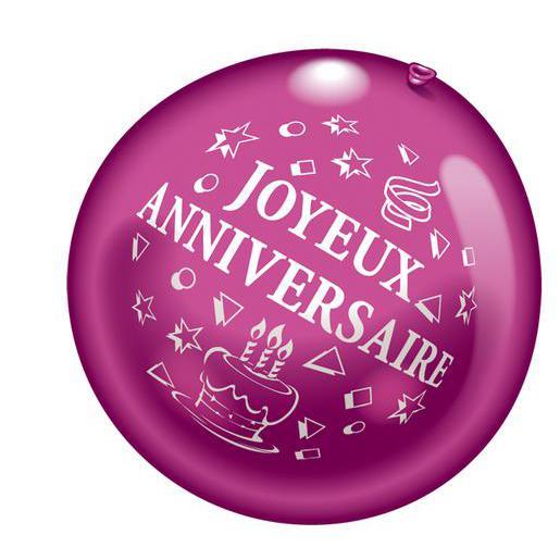 Ballon Geant Joyeux Anniversaire Latex Multicolore Decoration