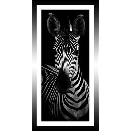 Tableau z bre 20 x 40 cm images encadr es la foir for Decoration murale zebre