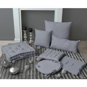galette de chaise 100 polyester 40 x 40 cm gris - Coussin De Chaise 40x40