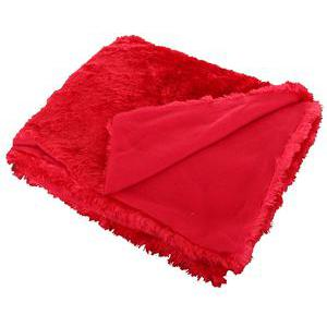 Plaid polaire - 100% polyester - 125 x 150 cm - Rouge