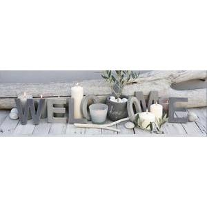 Toile LED Welcome - 140 x 45 cm