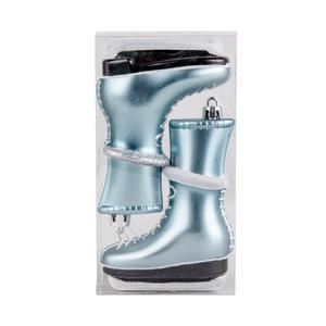 Lot de 2 suspensions patins à glace - Plastique - 8 x 3,5 x H 12 cm - Bleu