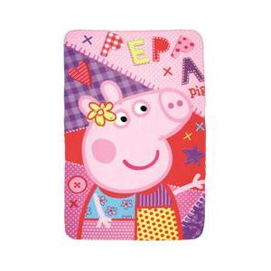 Plaid Peppa Pig - 100 % Polyester - 100 x 150 cm - Multicolore