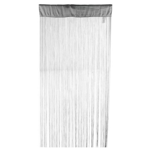 Rideau fils - 90 x 200 cm - Gris - Paire de vitrage - Voilage pour ...