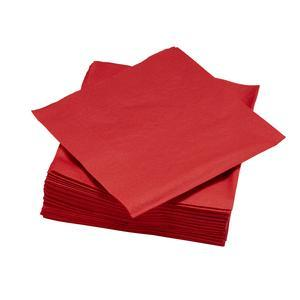 50 serviettes jetables rouges