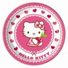 Lot de 8 assiettes Hello Kitty Hearts en carton - 23 cm - Multicolore