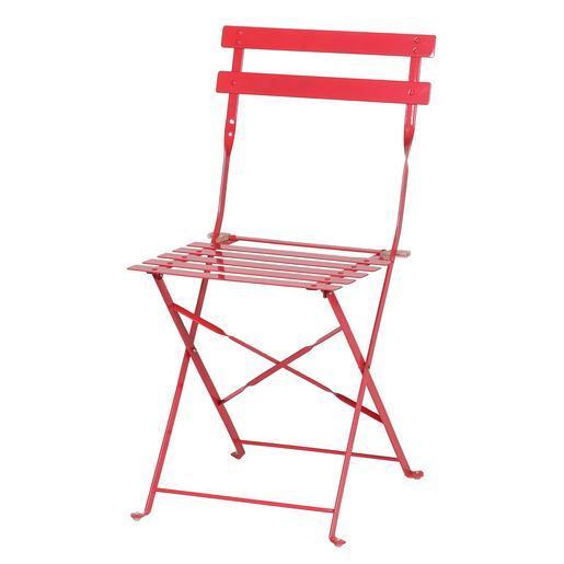 Chaise pliante - Métal - Rose - Salon de jardin   La Foir\'Fouille