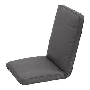 Coussin de chaise - Polyester - 90 x 40 x 4 cm - Anthracite