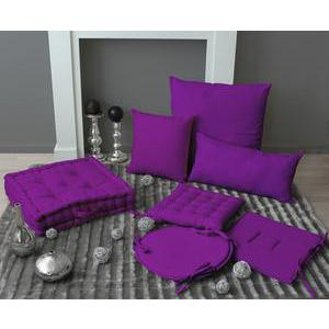Coussin - 100% polyester - 40 x 40 cm - Violet
