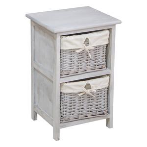 meuble de rangement 2 tiroirs 33 x 29 x h 51 cm gris patin