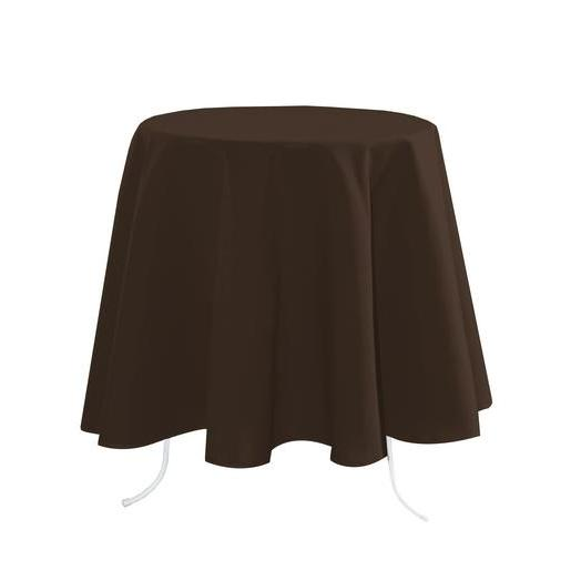 Nappe rectangulaire - 100 % Polyester - 148 x 300 cm - Marron
