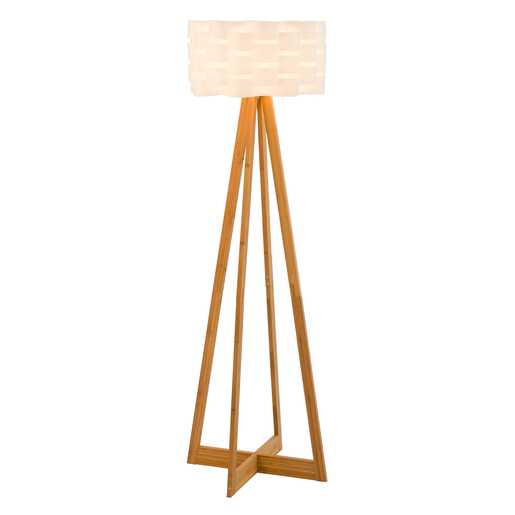 Lampadaire Scandinave O 42 X H 150 Cm Blanc Lampes A Poser