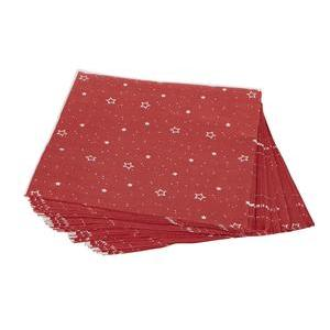 50 serviettes de table Stars - Rouge, vert