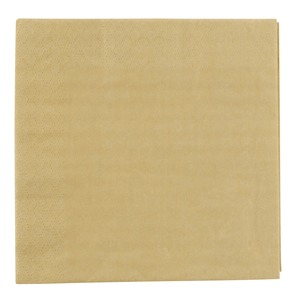 Lot de 20 serviettes en papier - 33 x 33 cm - Jaune or
