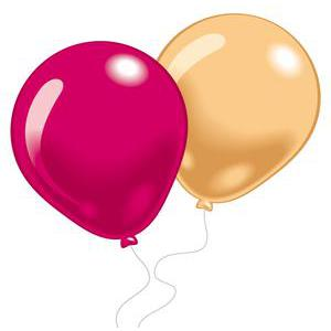 Lot de 10 ballons fashion - Latex - 25 cm - Multicolore