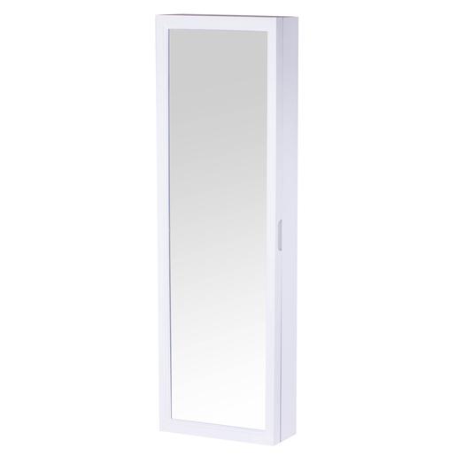 Miroir range-bijoux - Plastique et verre - Blanc - Miroirs | La Foir ...