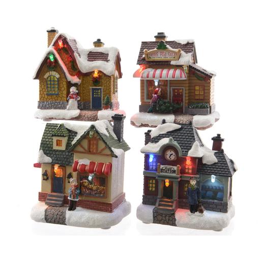 Maison Village De Noel Maison à LED Multicolore   Villages de Noël | La Foir'Fouille