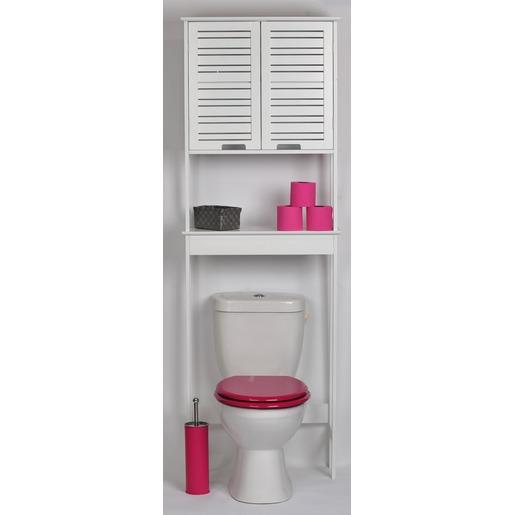 Meuble dessus de WC collection MIAMI - 173 x 63 x 23 cm - Blanc ...