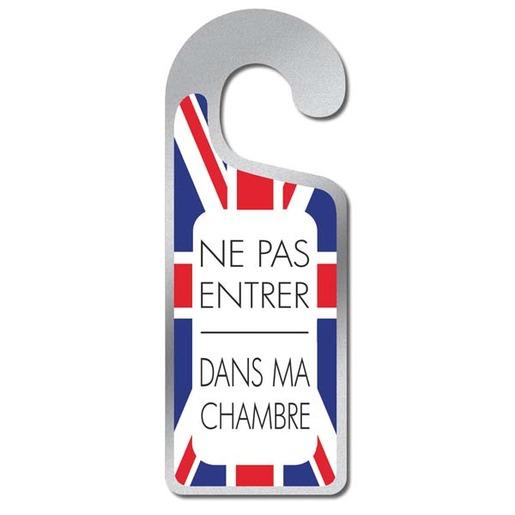 Plaque de porte - Ne pas entrer dans ma chambre - drapeau anglais ...