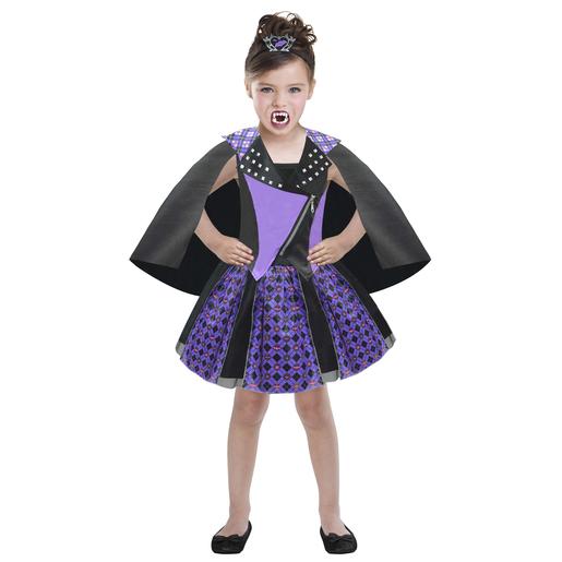 8d9d19691b4 Déguisement Chica Vampiro - 100 % Polyester - 8 à 10 ans - Violet et noir