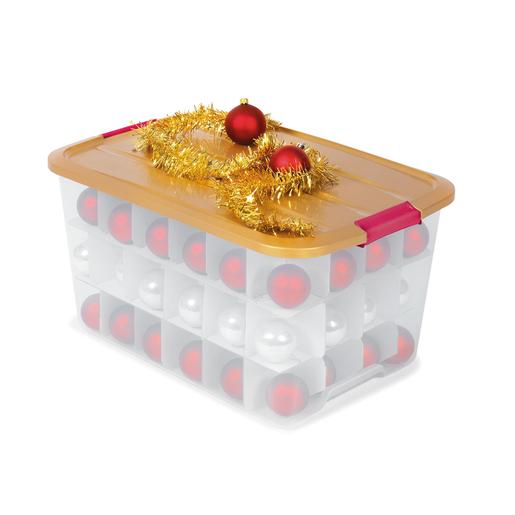 Boite Rangement Noel Boîte de rangement Noël   45 L   Rangement plastique | La Foir'Fouille