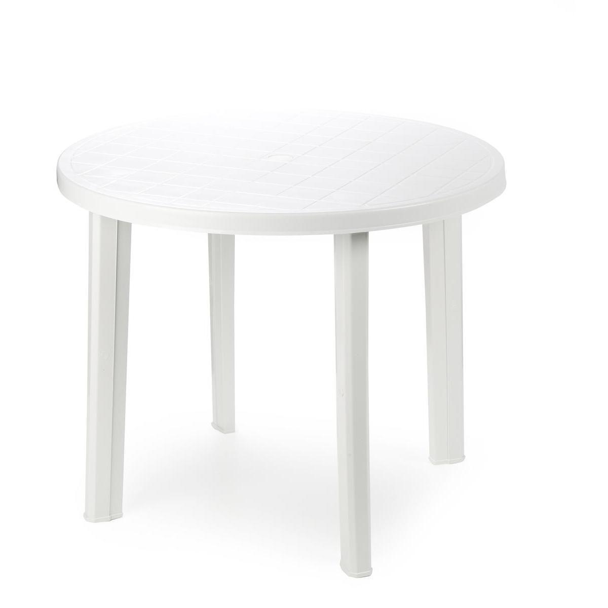 Table ronde - ø 6 x H 6 cm - Blanc - Mobilier de jardin  La
