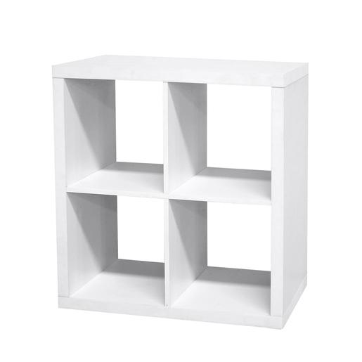 Etagere Cube 4 Cases Blanc Meubles De Chambre La Foir Fouille