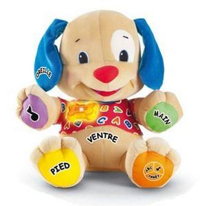 Peluche chiot Fisher Price - Polyester - 25 x 18 x H 33 cm - Multicolore