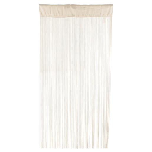 Rideau fils - 90 x 200 cm - Blanc - Paire de vitrage - Voilage pour ...