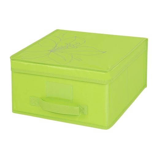 acheter pas cher 1b655 add09 Boîte de rangement en tissu - 30 x 30 x 16 cm - Vert ...