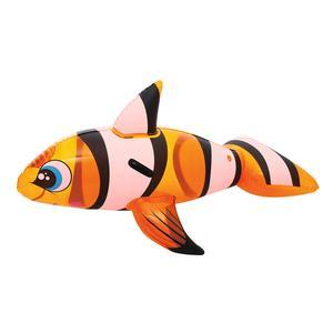Bouée poisson clown gonflable - PVC - 157 x 94 cm - Multicolore