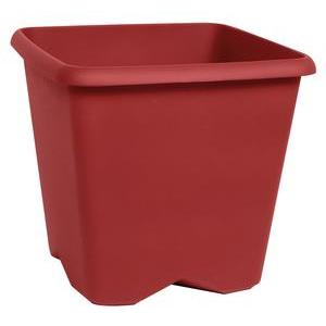 Pot carré Chorus - Rouge - 34,5 x 34,5 x H 31,9 cm