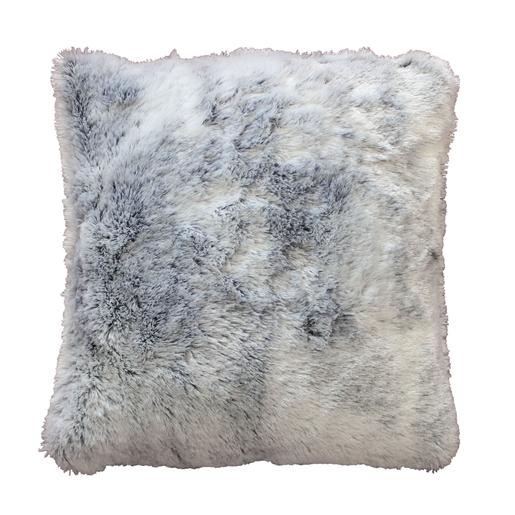 Coussin imitation fourrure   40 x 40 cm   Gris   Coussins et