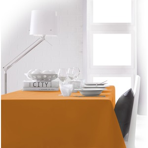 Nappe de table rectangulaire - 150 x 250 cm - Orange vendange