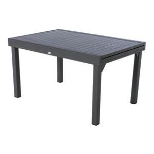Table extensible Piazza - 135/270 x 90 x H 75 cm - Gris graphite - HESPERIDE