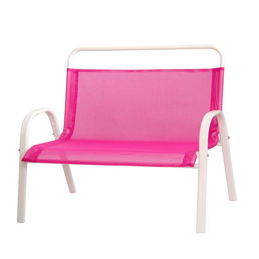 Banc enfant - Acier - Textilène - Bleu - Rose - Vert - Mobilier de ...