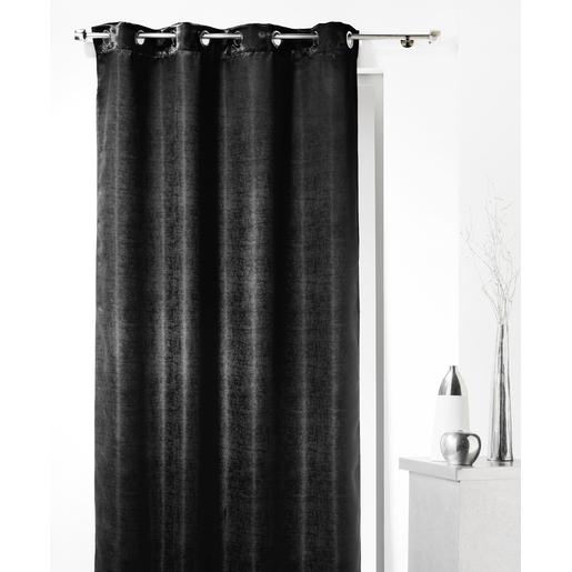 rideau occultant en polyester irisé - noir - rideaux et voilages