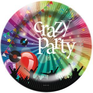 6 assiettes jetables Crazy Party