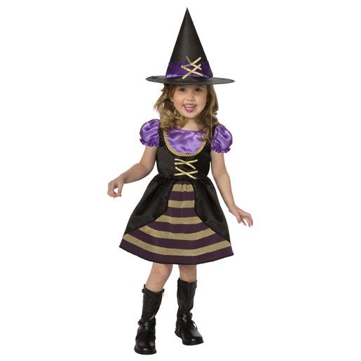 80afbf5d6f8b Déguisement de sorcière pour fille - Taille 2 à 4 ans - Multicolore ...