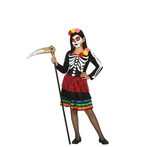 Déguisement Day of the Dead - 100 % Polyester - 3 à 12 ans - Multicolore
