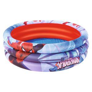 Piscine Spiderman - D 122 x H 30 cm - rouge et bleu