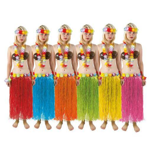 Jupe Hawaienne En Polyester Differents Coloris Accessoires Carnaval La Foir Fouille