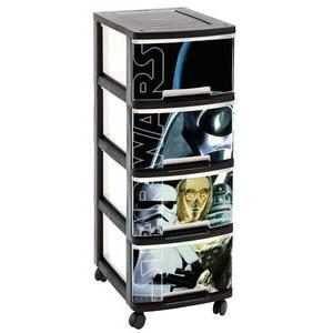 Tour 4 tiroirs Star Wars - Plastique - 26,4 x 35,1 x 67,5 cm - Multicolore