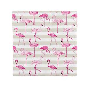 20 serviettes flamant rose - Papier - 33 x 33 cm - Multicolore