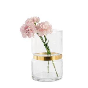 Vase ceinture - H 19 cm - Transparent, or