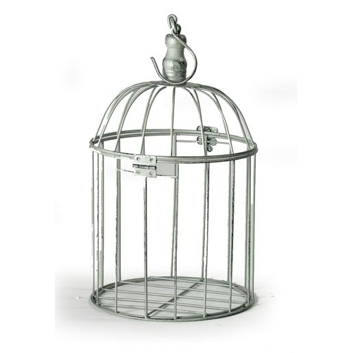 Cage oiseau - Acier - Gris - Objets déco   La Foir Fouille 69d62b756b45