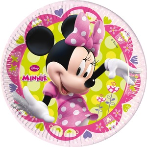 Lot de 8 assiettes Minnie Bow-tique en carton - 23 cm - Multicolore